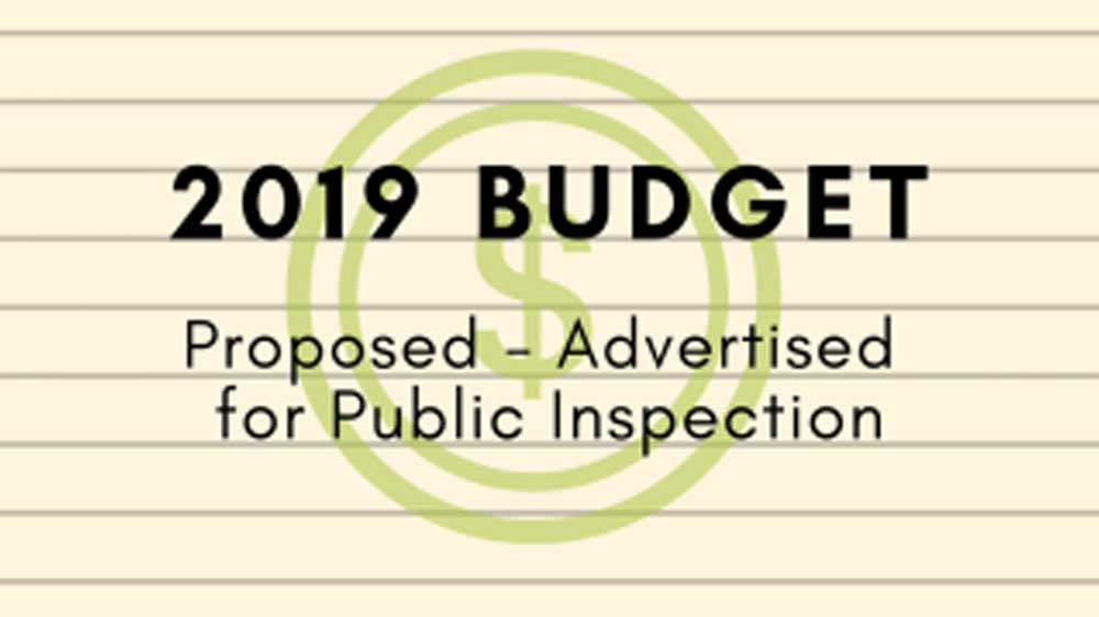 Gregg Township Proposed 2019 Budget