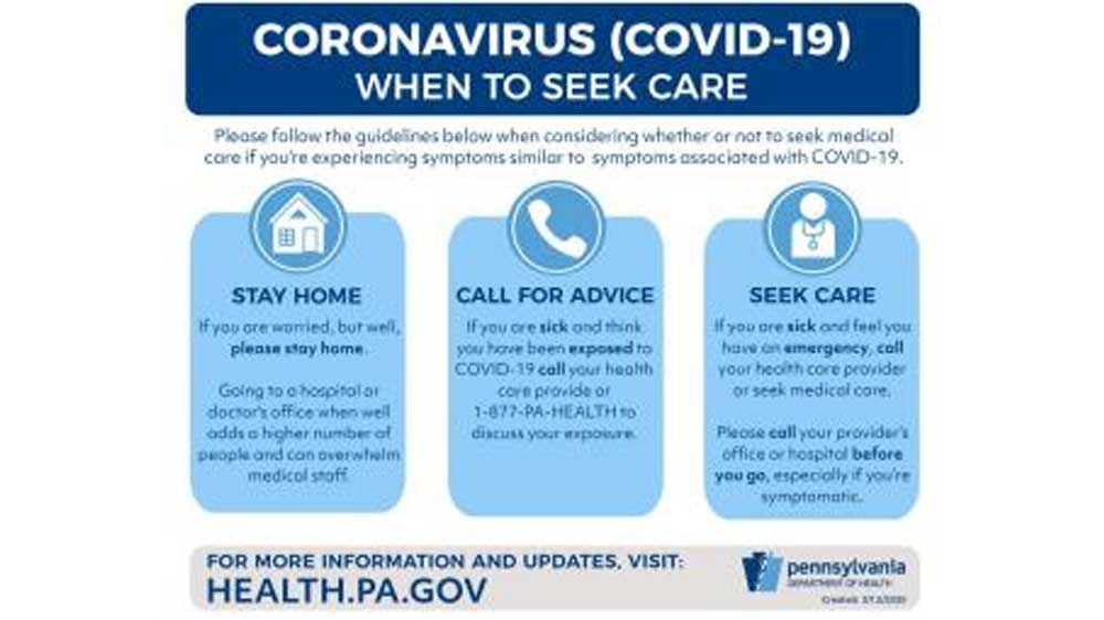 Information Regarding the COVID-19 Situation in PA